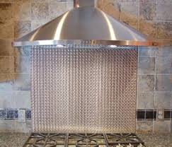Custom Backsplashes - Custom stainless steel backsplash