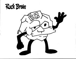 rock brain coloring page kids drawing and coloring pages marisa