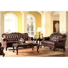 Coaster Leather Sofa Coaster Tufted Style Brown Leather Sofa Seat