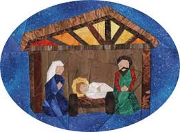 free nativity ornament foundation paper pieced