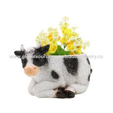 animal planter china whole sale polyresin cow flower pots animals planter home