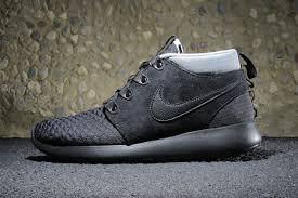 rosch runs nike roshe run sneakerboot black silver swgrus