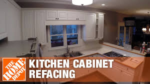 kitchen cabinet refacing at home depot kitchen refacing time lapse the home depot