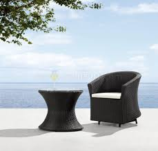 Modern Outdoor Patio Furniture Black U0026 White Modern 2pc Outdoor Patio Chair U0026 Coffee Table Set
