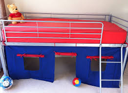 Mid Sleeper Bunk Bed Cosy Stars Metal Mid Sleeper Cabin Bunk Bed With Fun Playful Tent