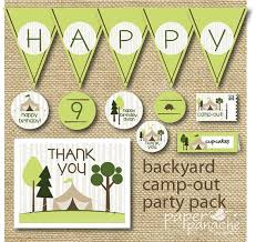 Backyard Birthday Party Invitations by 20 Best Camping Party Ideas Images On Pinterest Camping Parties