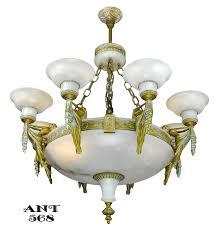 Antique Alabaster Chandelier Vintage Hardware U0026 Lighting Art Deco Grand Alabaster Bowl