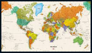 World Map Poster Large Contemporary Premier Large World Wall Map Poster For Maps Sale