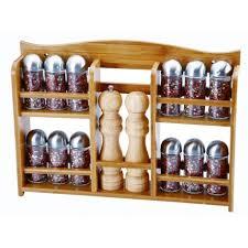 portaspezie legno porta spezie 14 contenitori renberg base legno bamboo acciaio
