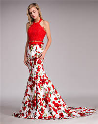 aliexpress com buy red long tight fitted 2 piece prom