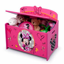 Build Your Own Toy Box Bench by Disney Minnie Mouse Deluxe Toy Box Walmart Com
