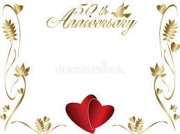 greetings for 50th wedding anniversary 50th wedding anniversary border stock vector illustration of