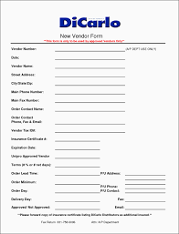 supplier information form template vkgtj fresh vendor registration