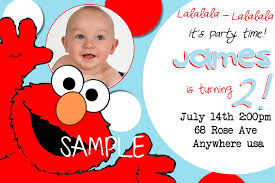 Create 1st Birthday Invitation Card For Free Elmo 1st Birthday Invitations Vertabox Com