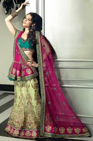 pista green color outstanding pista green u0026 pink net lehenga choli amelia eastman