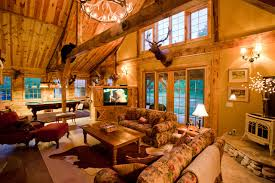 themed living rooms montana lodge themed barn home traditional living room other