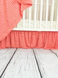 ruffle crib skirt baby bedding nursery decor many colors