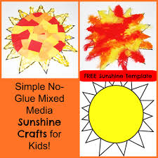 simple no glue mixed media sunshine crafts for kids wikki stix