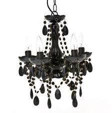 Black Mini Chandelier Tadpoles Chandelier Ebay