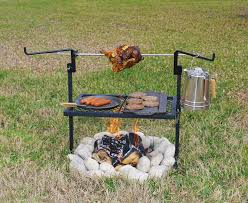 Bbq Firepit Cfire Rotisserie Spit Bbq Grill Free Standing Pit Cooking