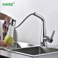 Quality Kitchen Faucet Kinse Modern Shining Chrome Pull Out Faucet High Quality Kitchen