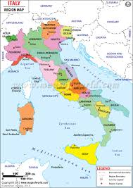 Map Of States With Capitals by Regions Of Italy Map Of Italy Regions Maps Of World
