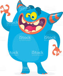cute cartoon yeti character vector bigfoot character for halloween