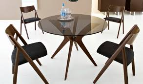 Modern Glass Kitchen Table Round Glass Dining Table Wood Base Uk Starrkingschool