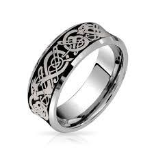 tungsten wedding ring celtic unisex tungsten wedding ring 8mm