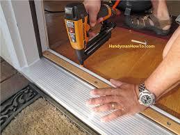 Exterior Door Threshold Installation How To Replace An Exterior Door Part 4