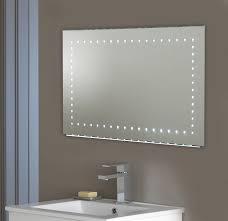 mirror design ideas simple large illuminated bathroom mirror long