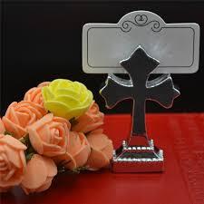 bridal bouquet holder table clip 1pcs wedding banquet party supplies creative cross clip name card