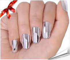 amazon com so beauty nail art polish silver metallic foil sticker