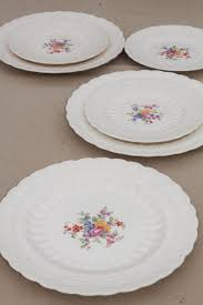 vintage copeland spode china plates hathaway floral embossed