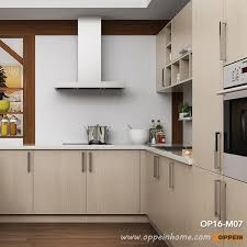 pictures of light wood kitchen cabinets oppein modern light wood grain kitchen cabinet op16 m07