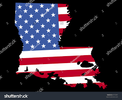 State Map Of Louisiana by Map State Louisiana American Flag Stock Vector 8775997 Shutterstock