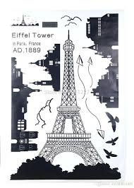 Eiffel Tower Wall Decals Bedroom Home Decor Removable Paris Eiffel Tower Art Decal Wall