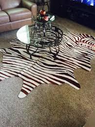 Genuine Zebra Rug Genuine Zebra Skin Cowhide Rugs Customer Pics Pinterest