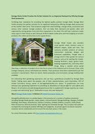 storage sheds outlet provides the perfect solution for an