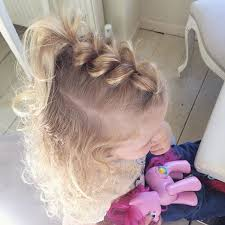 hairstyles for 2 year old curly pull through braid pinteres