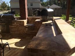 pergola firepit outdoor kitchen heat up houston patio