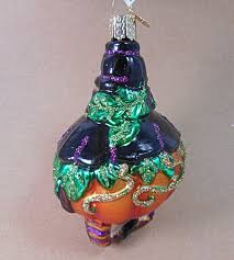 jolly jack o lantern glass halloween ornament owc 26006 by old