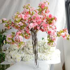 cherry blossom flowers new cherry blossom flower decoration wedding hotel living room vase