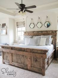 King Size Bed Frame Diy Diy King Size Bed Free Plans Shanty 2 Chic