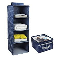 amazon com 4 shelf hanging closet organizer with drawer thick