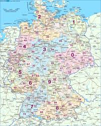 Dortmund Germany Map by Map Of Germany Postal Codes Map In The Atlas Of The World