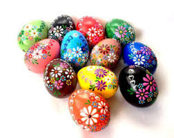 Decorating Easter Eggs With Wax by Easter Eggs Etsy