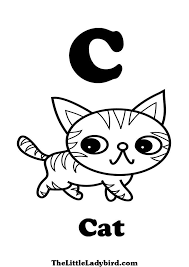 c is for cat coloring page free letter c coloring pages thelittleladybird com