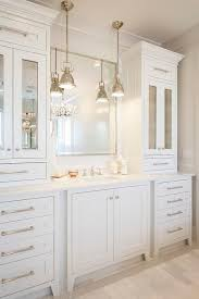 Bathroom Vanity Replacement Doors All White Bathroom Features An Extra Wide Single Vanity Topped