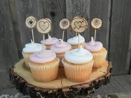 rustic wedding cupcakes cupcake toppers 12 rustic wedding cupcake toppers